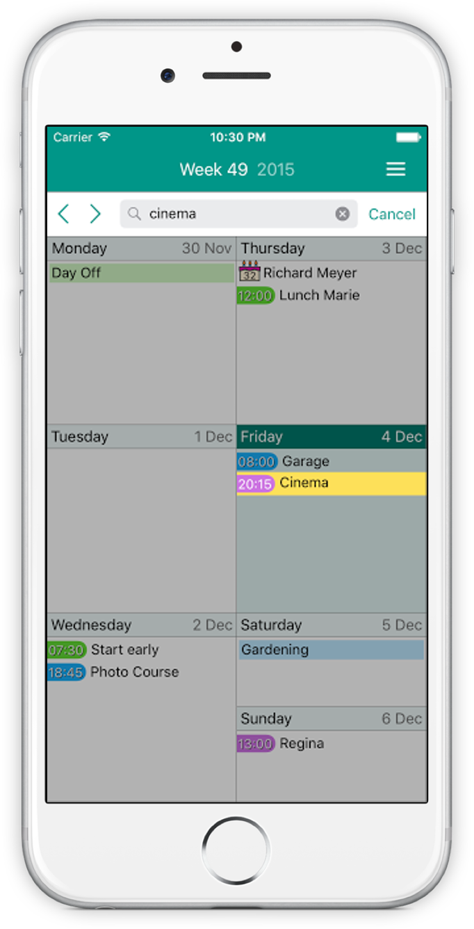 Screenshot of Easy Calendar