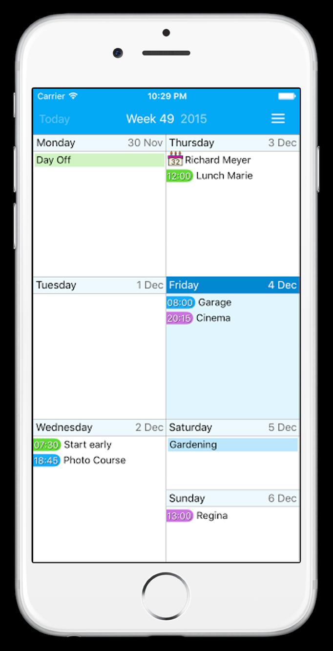 Acalendar Anleitung easy calendar -